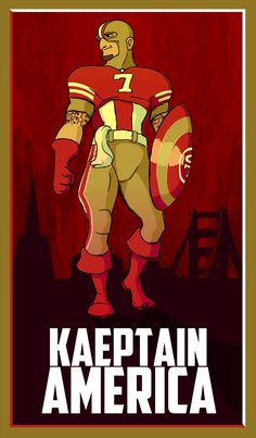 So stupid, this is supposed to resemble colin kaepernick Sf Niners, Forty Niners, Best Quarterback, Sports Fanatics, San Francisco Giants, Spirit Animal, Super Bowl, Nfl, Comic Books