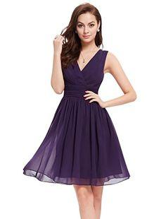 Ever Pretty Womens V Neck Ruched Chiffon Short Bridesmaids Dress 16 US Purple Ever-Pretty http://www.amazon.com/dp/B00ZOW4T9M/ref=cm_sw_r_pi_dp_cvExwb0VKXEFQ