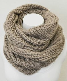 Cable Knit Infinity Scarf, would love in any other color!!