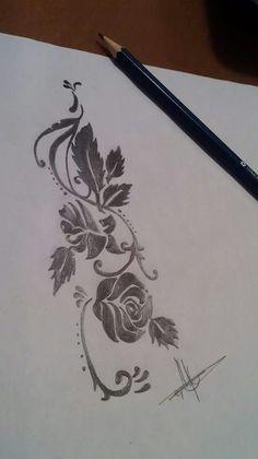 Flores, diseñado por Esther de Monster Tattoo. DISEÑO DISPONIBLE PARA TATUAR