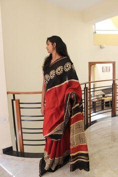 Bagru sarees – Nivika's