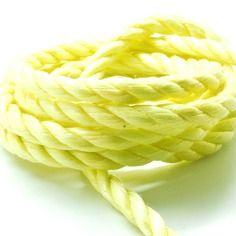 Coupon de 10 mètres de corde nylon 3 brins jaune 10 mm