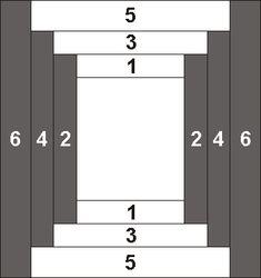 Log Cabin Quilt, Spiral & Courthouse Steps quilt patterns   Log ... : free courthouse steps quilt pattern - Adamdwight.com