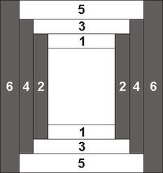 courthouse steps variation makes a spool block