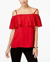 INC International Concepts Ruffle Off-The-Shoulder Top, Only at Macy's