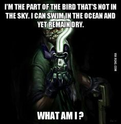 So I heard you guys like riddles