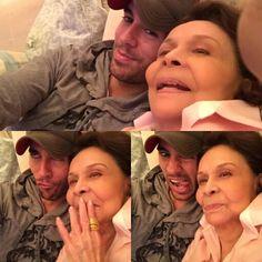Enrique and his grandma