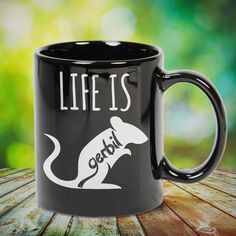 Life Is Gerbil great gift for yourself gerbil lovers, family, friends or any men, women who loves gerbil. - get yours by clicking the link in my profile bio.