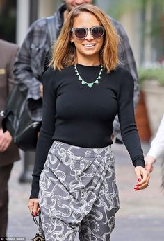 Taking it back: Nicole Richie stepped out in a pair of harem pants on Thursday for an appearance on Extra