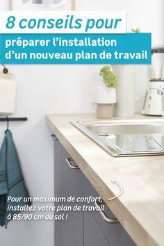 Vous avez besoin d'un peu de renouveau ? Changer de plan de travail pourrait vous aider à rafraîchir votre cuisine ! Il faut bien choisir sa matière, sa hauteur et ses dimensions. Vous pourrez même en profiter pour changer de place l'évier ou les plaques de cuisson ! Découvrez tous nos conseils pour faire les bons choix. Plane, Dimensions, Cabinet, Storage, Diy, Furniture, Home Decor, Stove Top Grill, Countertop