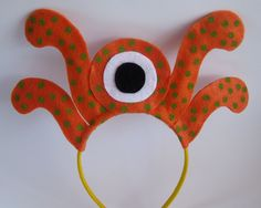 Monster Headband by PlaytimeProps on Etsy Monster Party, Monster Birthday Parties, Felt Headband, Cute Headbands, Halloween Fashion, Halloween Crafts, Monsters Inc Halloween, Bunny Party, Dress Up Boxes