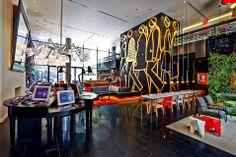 HOTEL CITIZENM.  Location: New York, USA;  firm: Studio architettura Concrete, interiors studio Bricks.