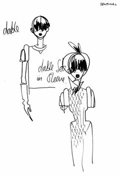 Giles Deacon Sketch Fashion Illustrations, Fashion Sketches, Art Sketches, Giles Deacon, Reading Art, Rug Company, Design Development, Artist Art, Black Art
