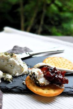 Savory Fig Jam | Fig Jam Doesn't Always Have to Be Sweet! Best Grilled Cheese, Grilled Cheese Recipes, Canning Recipes, Cookbook Recipes, Recipe Using Figs, Homemade Fig Jam, Jam On, Stuffed Peppers, Snacks
