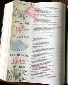 Day 1:  Psalm 17:8 - Whatever may come my way my God is here to keep protect and guide me just as a mother hen does for her young.  #biblejournaling #biblejournalingdaily #biblejournalingcommunity #joyofsalvation http://ift.tt/1KAavV3