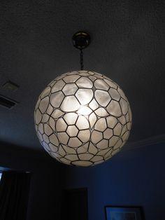 Vintage Capiz shell lighting fixture.