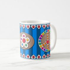 Summer Carnival Peace Sign Mug - Blue Easy Diy Crafts, Diy Craft Projects, Diy Crafts To Sell, Golf Crafts, Fun Diy, Jelly Fun, Diy Crafts For Teen Girls, Halloween Diy, Halloween Games