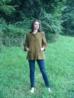 40s Swing Coat Check Carlye Vintage by SerendipityCircus on Etsy
