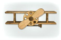 Wooden Airplane Shelf