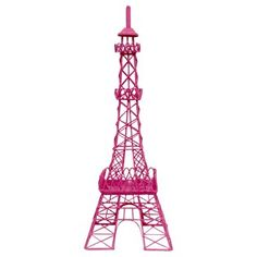 Hot Pink Metal Eiffel Tower Decor | Shop Hobby Lobby - maybe dust with some bronze to make it a little vintage looking