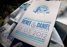 Renee and Daniel Wedding invitation set