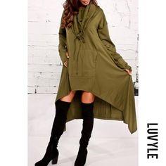 fdca9fd31fb5  Luvyle -  Luvyle Hooded Plain High-Low Kangaroo Pocket Maxi Dress -  AdoreWe.com