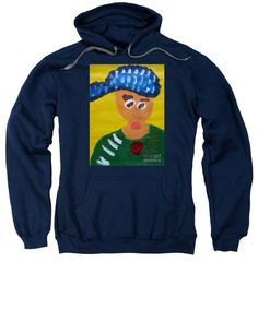 Patrick Francis Navy Designer Hooded Sweatshirt featuring the painting Portrait Of Camille Roulin 2015 - After Vincent Van Gogh by Patrick Francis Rembrandt Self Portrait, Bill Owen, Hooded Sweatshirts, Hoodies, Peter Paul Rubens, Italian Women, White Caps, Vincent Van Gogh, Graphic Sweatshirt