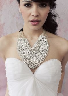 Kamille by sarahseven. Statement necklace. Bridal accessories.