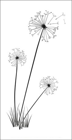 This large delicate dandelion wall stencil will bring the feel of the summer bre… This large delicate dandelion wall stencil will bring the feel of the summer breeze to your home. The Dandelion design is x x inches). The stencil material is x x inches Shabby Chic Embroidery, Simple Embroidery, Japanese Embroidery, Hand Embroidery Patterns Free, Embroidery Flowers Pattern, Art Patterns, Dandelion Designs, Dandelion Wall Art, Design Art