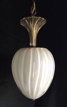 Vintage 1950's MURANO MID CENTURY Glass Pendant BAROVIER & TOSO Chandelier Light