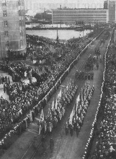 Mannerheim's funeral procession, Helsinki, Finland - Feb 4, 1951