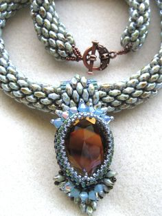 Boa Scales Super Duo Style-My Pendant by Sharon A Kyser