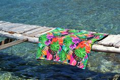 Two sided beach towel / Cotton beach towel / Pool towel /