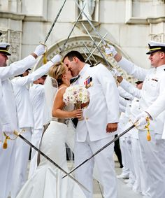 Elegant Military Wedding.