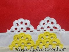 Half flower lace # 5 (one turn) - Crochet Braid Pattern, Hairpin Lace Crochet, Braid Patterns, Crochet Lace Edging, Crochet Borders, Crochet Diagram, Doily Patterns, Crochet Braids, Crochet Doilies