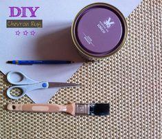 DIY Chevron Rug  ©Ch