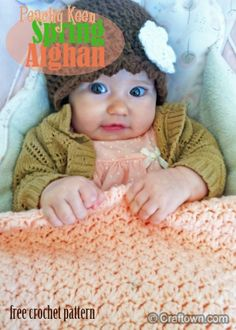 Free Crochet Pattern - Spring Baby Afghan. Create our peachy-keen spring afghan for Easter! #craftown #crochet
