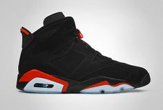 With the confirmed release of the Jordan 6 White Infrared in March it was difficult to imagine a birthday without a black infrared retro. Red And Black Shoes, Red Shoes, Cute Shoes, Me Too Shoes, Red Black, Air Jordan Vi, Baskets, Nike Air, Retro Basketball Shoes