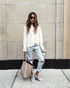 cool 50 Идей, с чем носить женские джинсы-бойфренды (фото) Читай больше http://avrorra.com/dzhinsy-bojfrendy-zhenskie-s-chem-nosit-foto/