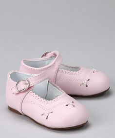 Take a look at this Pink Emma Mary Jane by Designer's Touch on #zulily today!