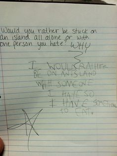 8-Year-Old's Eerie Answer To A Classic Question...but good thinking really.
