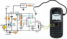Laser Activated GSM Call Alert Security Circuit for Home