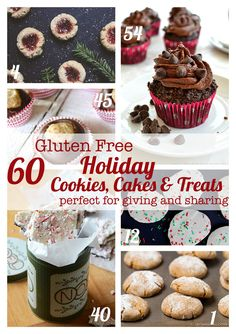 60 Gluten Free Cookies, Cakes & Treats for the Holidays for all of your Christmas, Hanukkah, Kwanzaa or New Year's parties and gifts! | cupcakesandkalechips.com