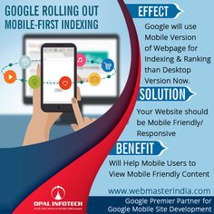 Google have started migrating sites that follow the best practices for mobile-first indexing. In this Google will use Mobile Version of Webpage for Indexing & Ranking than Desktop Version Now. It is highly recommended to have your website mobile friendly/responsive for better visibility of your content to mobile users. For, more information visit - https://www.webmasterindia.com/responsive-web-design-mobile-website/