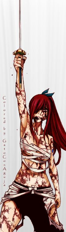 Erza (Fairy Tail). Colored by GatoConAguja