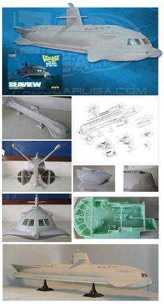 Giant 39 inch Seaview Model Kit by Moebius Models Model Ship Kits, Model Ships, Sci Fi Tv Shows, Old Tv Shows, Plastic Model Kits, Plastic Models, Retro Toys, Vintage Toys, Gi Joe