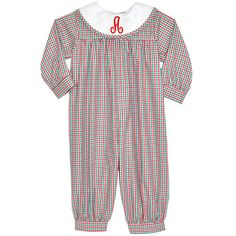 Our Rags Land Red/Kelly Checks Girls Long Bubble! Shop NOW at www.ragsland.com & follow Ragsland on INSTAGRAM!