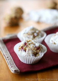 Delicious Christmas Desserts: cranberry walnut truffles