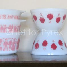 RARE Strawberry Pyrex