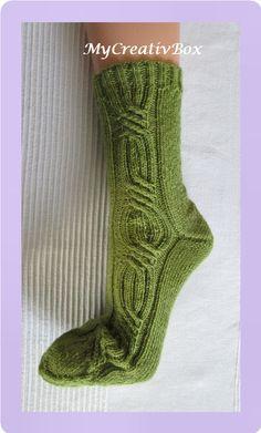"""Socken """"Dreh Dich"""" für Gr. 32-43, Anleitung von MyCreativBox, gestrickt mit Sockenwolle 4-fach"""